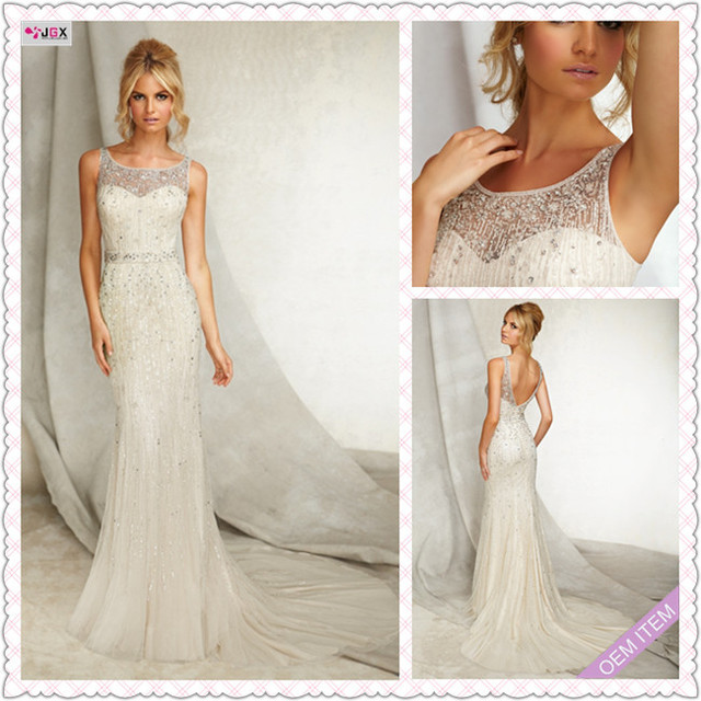 Romantic Sweetheart Beach Wedding Dress High Quality: High Quality Water Soluble Lace Applique Drop Waist