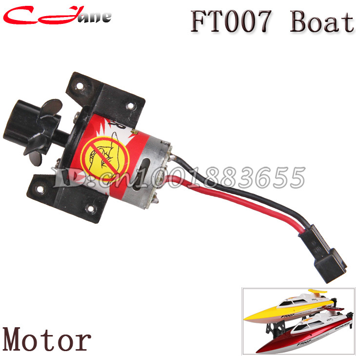 Free shipping Motor FT007-04 for 4 Channel 2.4G RC Remote Control High Speed Racing Boat FT007 parts free shipping wltoys wl911 2 4g high speed racing boat spare part wl911 22 370 motor