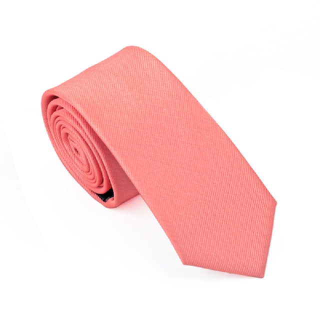 65564e2fa5c5 HB-018 Mens Ties Silk Skinny Ties For Men Slim Tie Solid Coral Red Wedding  Necktie Free Shipping