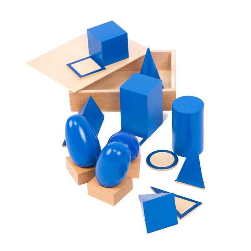 Bébé Mach Jouets solides géométriques montessori Apprentissage Éducatifs montessori bloc de cylindre oyuncak montessori sensorielle