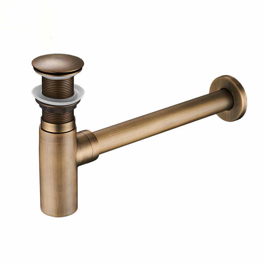 Armadilhas de Garrafa Pop up Drain com overflow Desodorante Dreno de sucção Tipo de Água Da Bacia do Tubo de Drenagem Tubo de Drenagem Pia Do Banheiro Encanamento