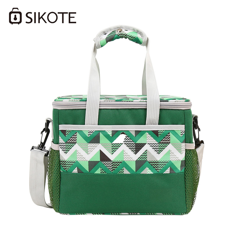 SIKOTE Cooler BagsThicken Folding Fresh Keeping Waterproof Storage Portable Car Thermal Insulated Ice Pack Picnic Lunch Bag electric lunch box double layer stainless steel liner cooking lunch boxes multifunction plug in lunch box steamed rice steamer