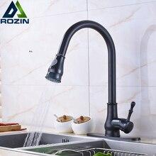 Öl Eingerieben Bronze Stream & Sprayer Küchenarmatur Ziehen und Unten 10 Zoll Abdeckung Platte Badezimmer Toilette Waschbecken Mixer wasserhähne