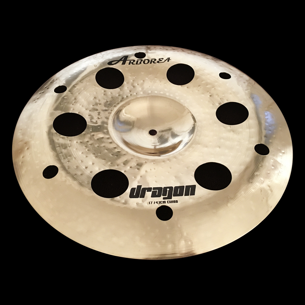 Special Design Dragon series 17 China Ozone Cymbal / 17 China Stacker Plate for Drum set new design sprial cymbal 14cymbal