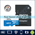 45 MB/S 300x Tarjeta Microsd de 16 GB microSDHC 32 GB Clase 10 64 GB microSDXC tarjeta de memoria tf adaptador para tablet pad gopro hero videocámara teléfono