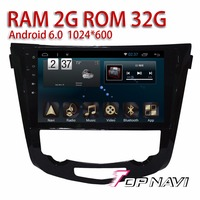 Auto Spelers voor Nissan X-trail 2014 Android 6.0 10.1 ''WANUSUAL Dubbele din Automotive Bluetooth Gps-navigatie Multimedia Stereo
