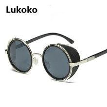 dbba570c832 Lukoko Fashion Steampunk Sunglasses Women Men Windproof Vintage Retro Round  Metal Sun Glasses UV400 Steam Punk Goggles Oculos