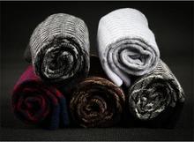 Fashionable Cotton Men Women Casual Socks Gentlemen Spring Autumn Winter Striped Business Crew