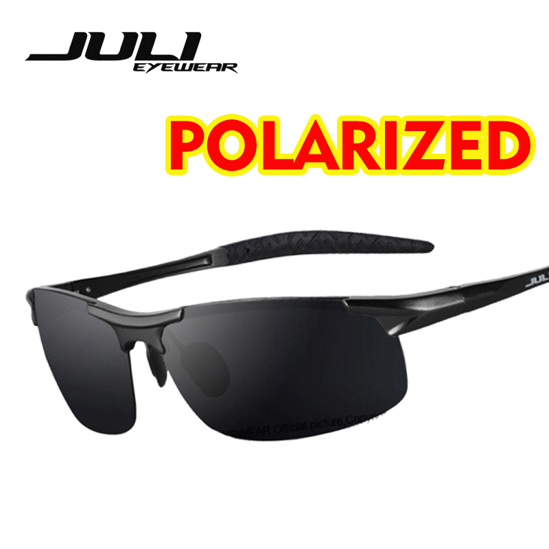 2f3a3c7b8c8cd JULI Men s Polarized Sunglasses Frameless Sports Travel Driving Unbreakable  Aluminum Magnesium Metal UV400 Male Eyewear
