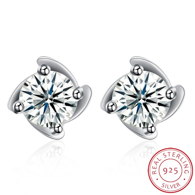 2018 Fashionable simple studs 925 sterling silver Windmill stud
