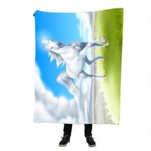 Blanket Custom Sassy Unicorn Fleece Sofa/Bed/Plane Travel Plaids Bedding Towel