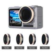 ULANZI Camera Lens Filter for DJI OSMO Action, ND8/ND16/ND32/ND64 CPL Lens Filters Optical Glass DJI OSMO ACTION Accessories nisi nd1000 nd64 nd16 nd8 100 100mm camera filter square nd filter optical glass double side ultra coating for under 82mm lens