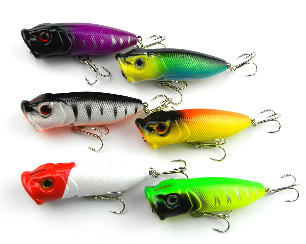6 قطع بوبر الصيد إغراء البلاستيك الصلب - صيد السمك