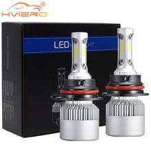 2X Car Headlight Fog Lighting 9004 HB1 Hi-Lo High Low Beam S2 COB IP67 Waterproof 6500K 72W 8000LM Auto Headlamp Led DC 12v 24V
