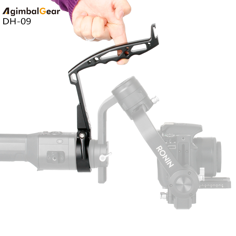 AgimbalGear DH 09 Handheld Camera Stabilizer Gimbal Accessories for Dji Ronin S SC Zhiyun Crane 2 V2 Plus Ring Mount Handle Grip