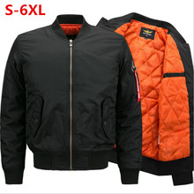 2018 new military casual stand-up pilot men jacket thicken  bomber youth streetwear S-6XL