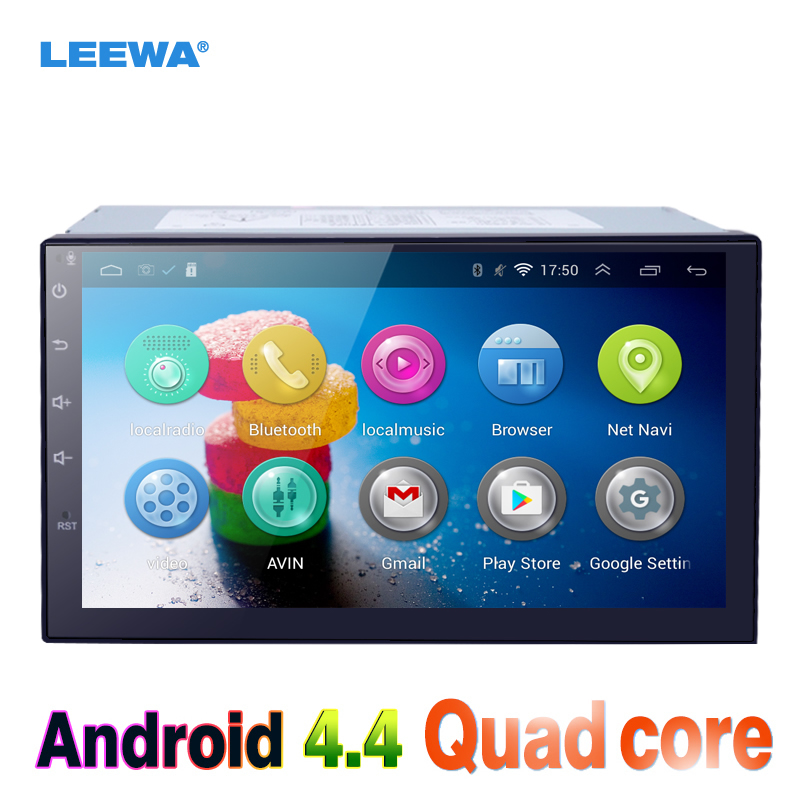LEEWA 7inch Android 4.4.2 Quad Core Car Media Player With GPS Navi ...