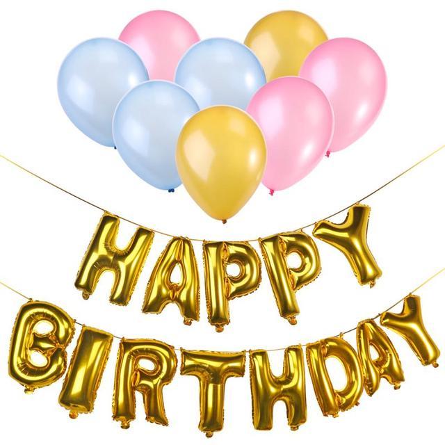 Aliexpresscom Buy Gold Happy Birthday Decoration Balloon Boy