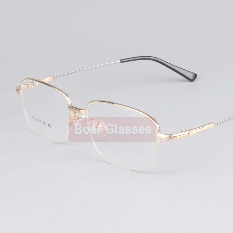8fbafd76ec5e Opeco Memory Titanium Male Eyeglasses Men Frames Half Rim Eye Glasses  Myopia Spectacle Optical Prescription Eyewear