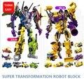 Con el paquete 6 unids/set cars primer bruticus robot transformación juguetes figuras de acción juguetes de bloques para niños regalos de cumpleaños