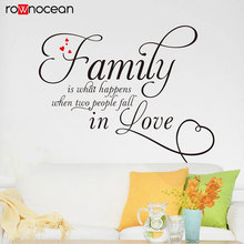Love Family Quote Wall Decal Vinyl Home Decor For Living Room Art Wall Stickers Removable Mural Self Adhesive Wallpaper 3Q25 family removable wall stickers for living room art mural home decoration stickers self adhesive wall paper