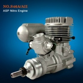 ASP 2 Stroke S46A / S46AII Nitro Engine for RC Airplane