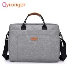 Erkekler tuval iş evrak çantası ofis seyahat Messenger büyük Tote kadın bilgisayar iş çantası iş gezisi dosya paketi Laptop çantası