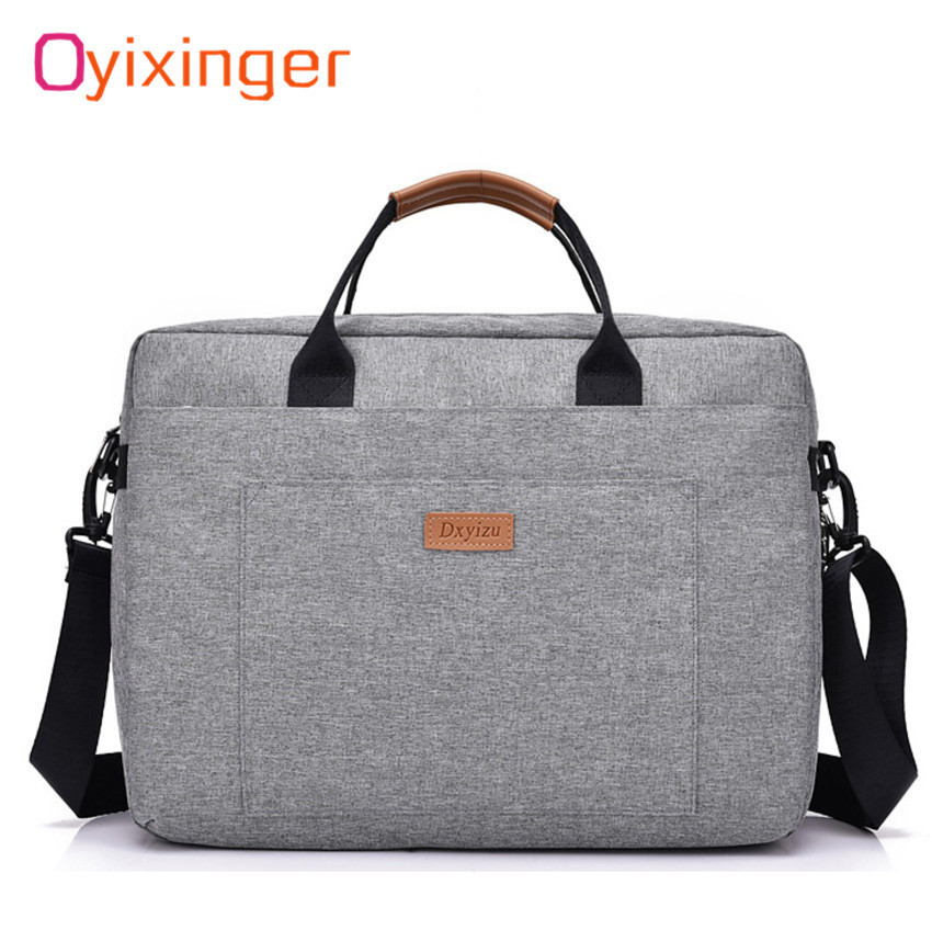 Us 14 94 44 Off Men Canvas Business Briefcase Office Travel Messenger Large Tote Women S Computer Work Bag Trip File Package Laptop In