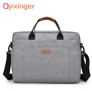 Image 1 - Men Canvas Business Briefcase Office Travel Messenger Large Tote Womens Computer Work Bag Business Trip File Package Laptop Bag