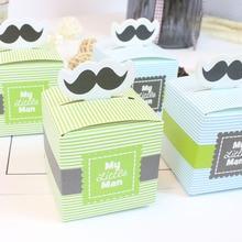 My Little Man Favor Box baby shower candy box  ducha del bebe Gift Boxes baby birthday chocolate box free shipping big box little box