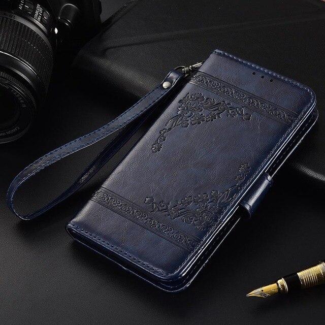 Flip Funda de cuero para Samsung Galaxy A50 2019 A505 Fundas TPU flor impresa 100% cartera caso con correa