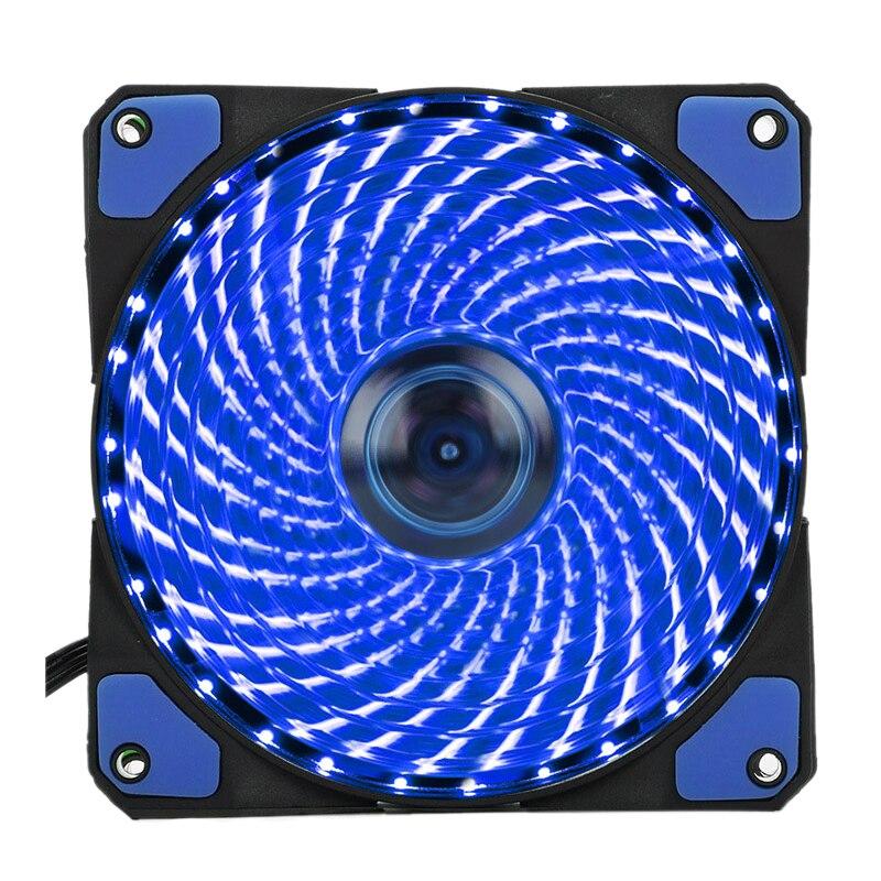 120 мм компьютер 16dB бесшумного 33leds случае вентилятор радиатора охлаждения Cooler с антивибрационные резиновые, 12 см, 12VDC 3 P IDE