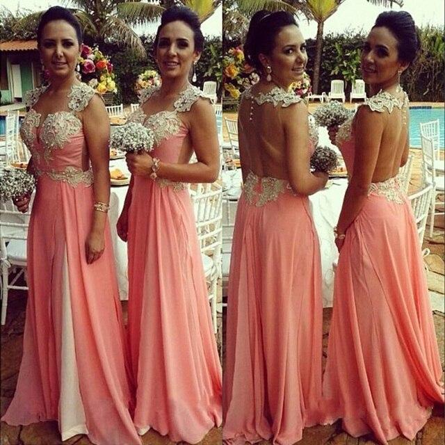 Watermelon Pink Bridesmaid Dresses