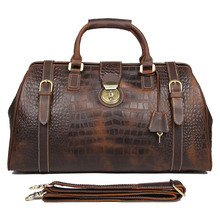 JMD Vintage Genuine Cowhide Leather Unique Design Handbags Tote Casual Travel Bags Classic Business Bag For Men 7281B