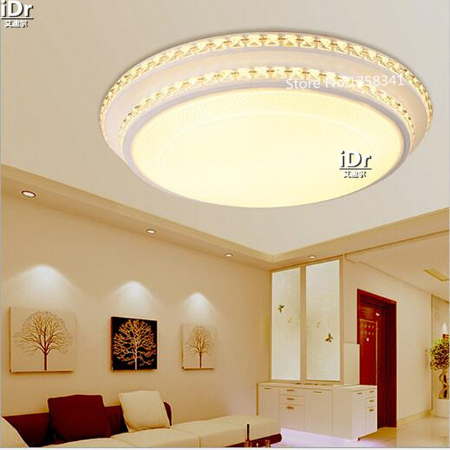 Einfache moderne kristall doppel runde schmiedeeisen lampe große ...