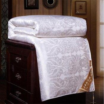 2018 Весна высокого класса шелк натуральный шелк Заполненный шелк кашне одеяло Шелковое Одеяло Твин Полный Король Размер