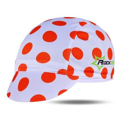 ROCKBROS Мужская велосипедная Кепка для горного велосипеда, велосипедная командная Кепка, дышащие спортивные солнцезащитные кепки для активного отдыха, 7 цветов - Цвет: Red Dot