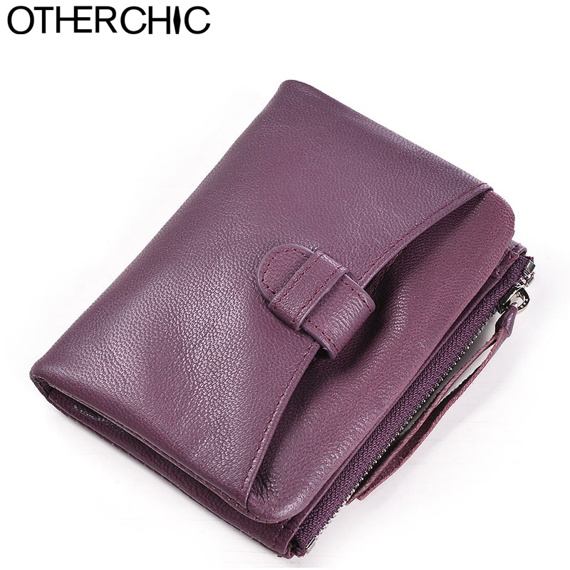 OTHERCHIC Genuine Leather Women Short Wallets Sheepskin Small Soft Wallet Coin Pocket Wallet Female Purse Money Clip 6N08-06 women short wallet vintage coin purse clutch clip lovely animal prints soft leather small purse carteras mujer sacoche homme
