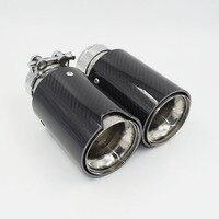 Alta Qualidade de Aço Inoxidável Traseira Do Carro M Poder Fibra De Carbono Exhaust Muffler Tip Aplicar para BMW335 535 640 5 Series 3 Series|tips exhaust|tip muffler|tips c -