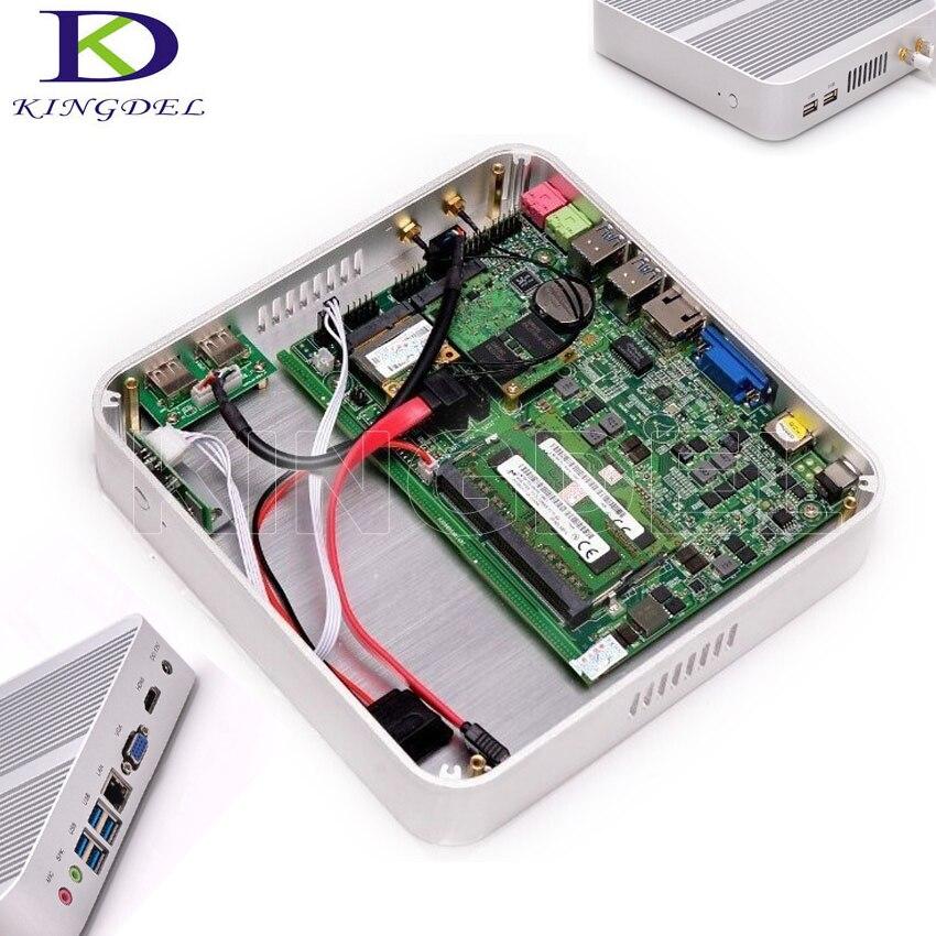 Intel Fanless Mini PC Core I3 5005u Windows 10 Mini-ITX Desktop Computer HD4400 Book Sized PC Processor HTPC Mini Pc TV BOX