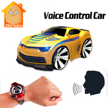 Minitudou 4 canales rc coche con control de voz smart watch mini cars on the radio control remoto rc toys para niños
