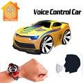 Minitudou 4 canais carro de rc com o smart watch voice control mini cars no rádio controle remoto rc toys para crianças