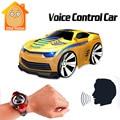 Minitudou 4 canales rc coche con control de voz smart watch mini cars on the radio control remoto rc toys para niños