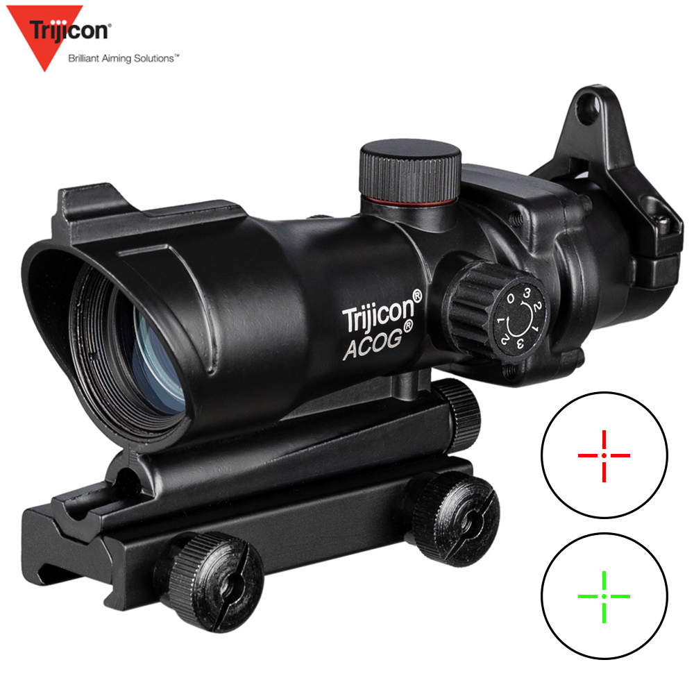ACOG 1X32 Red Green Cross Sight Optical Rifle Scopes Hunting Scopes With 20mm Rail For Airsoft Gun