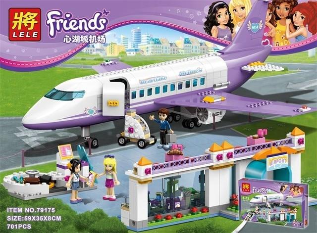 Lele 79175 701pcs Princess Friends Heartlake Airport Big Plane Model