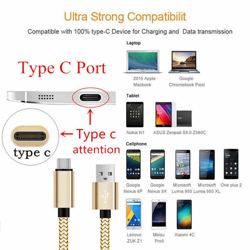 0.2 متر قصيرة 2 متر 3 متر طويل نوع-C USB شحن سريع كابل علامة هواوي ماتي 20 10 لايت P20 برو نوفا 3e 3i الشرف 10 9 V20 شاحن بيانات
