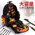 Рюкзак для инструментов  электрик  Ремонтный Органайзер  сумка 1680D  водонепроницаемые сумки для инструментов  многофункциональный ранец  де...