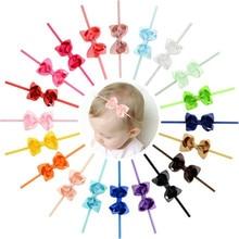 Headband Hair-Accessories Girls Baby Kids Ribbon-Bow Turban Elastic DIY Grosgrain Small