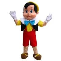 Буратино Маскоты костюм, взрослые Хэллоуин Необычные платья персонажа из мультфильма костюм, бесплатная доставка