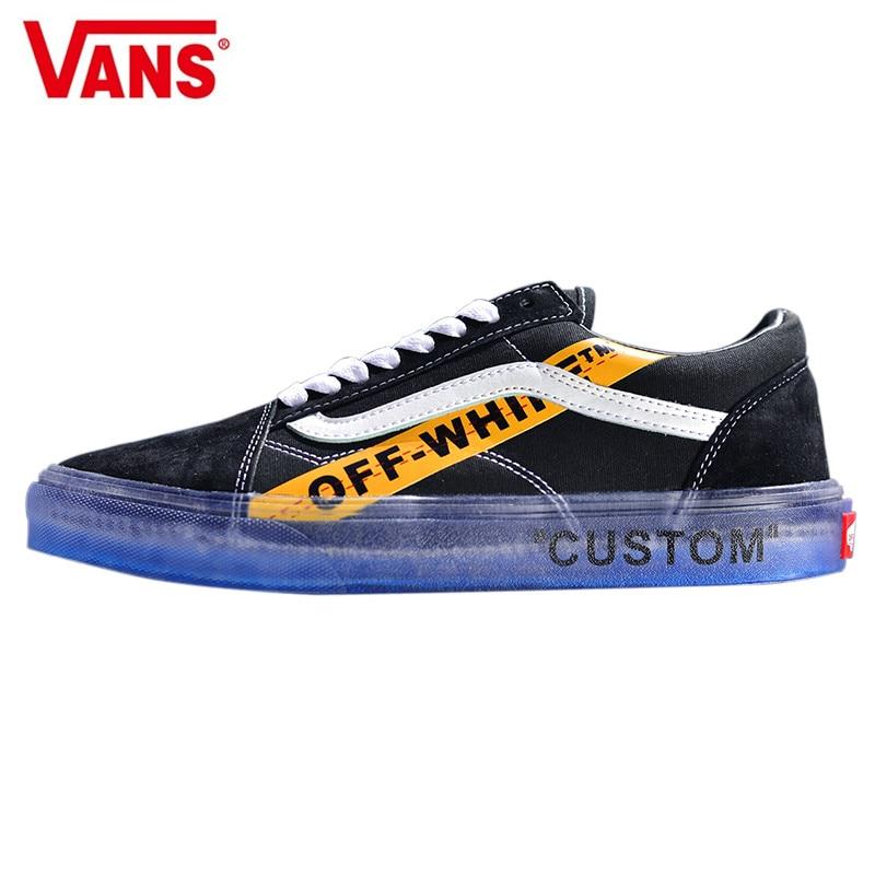 Aliexpress.com  Comprar VANS CE Y62 Vans Old Skool X Off Blanco clásico  hombres y mujeres Zapatillas Zapatos de lona 28316f0e7b3